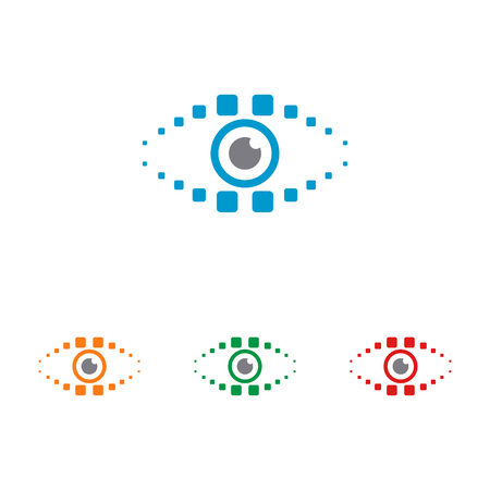 Eye vector with modern look
