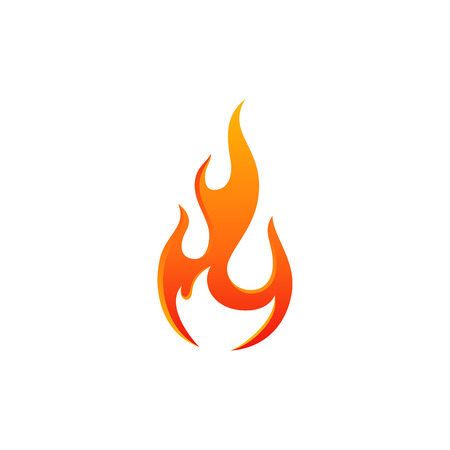 modern fire flame icon collection  symbol icon design vector hot color