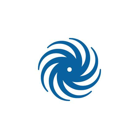 Modèle de logo abstrait Swoosh Spinning Whirl Logo