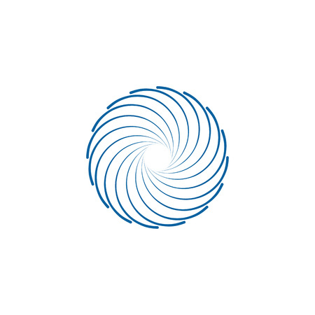 Abstract Swoosh Spinning Whirl Logo Template Illustration