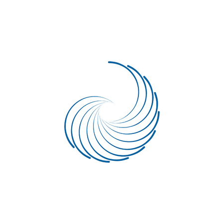 Abstract Swoosh Wing Logo Template