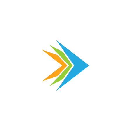 Modern Arrow Icon Logo Template 일러스트