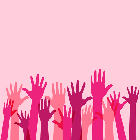 Pink Raise Up Hands Background