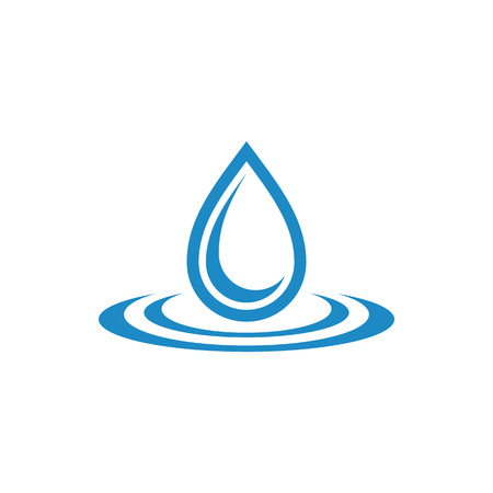 Modern Water Droplet Icon Logo Template for green technology business gas oil company with modern high end look
