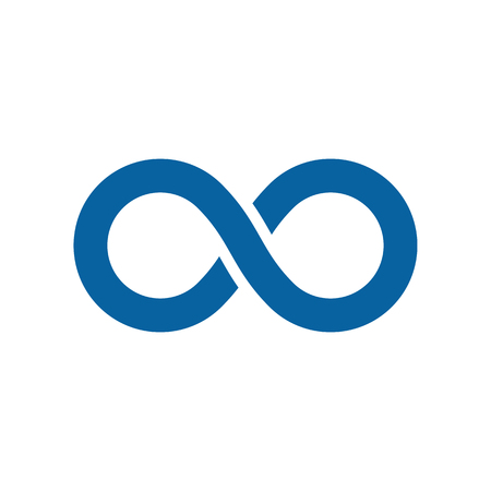 Modern Infinity Symbol Icons logo Template for technology business health company with high end look Ilustração