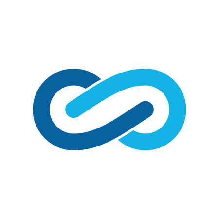 Modern Infinity Symbol Icons logo Template for technology business health company with high end look Logó