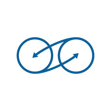 Moderne Infinity Symbol Icons Logo Vorlage für Technologieunternehmen mit High-End-Look