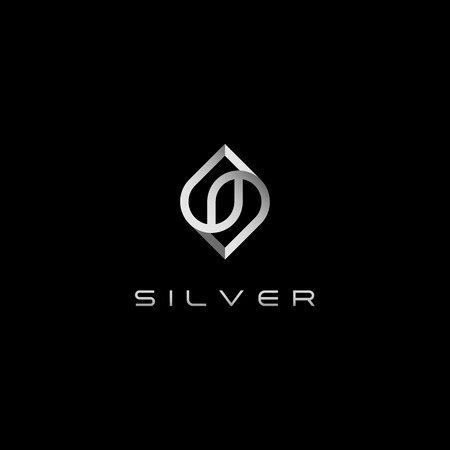 Modern S Letter Silver logo for technology business all company with modern high end look Ilustração