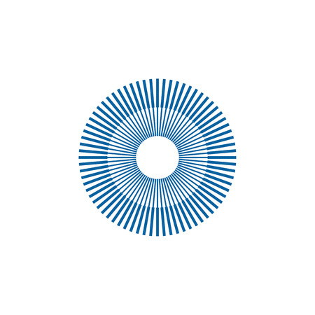 Unique New Abstract Geometric Icon Symbol Logo for technology business health company with modern high end look Ilustração