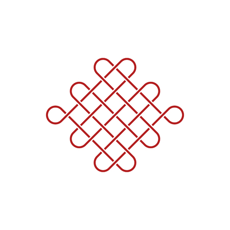 Unique Knot Infinity Icon Logo Design Template for business health company decoration with modern high end look