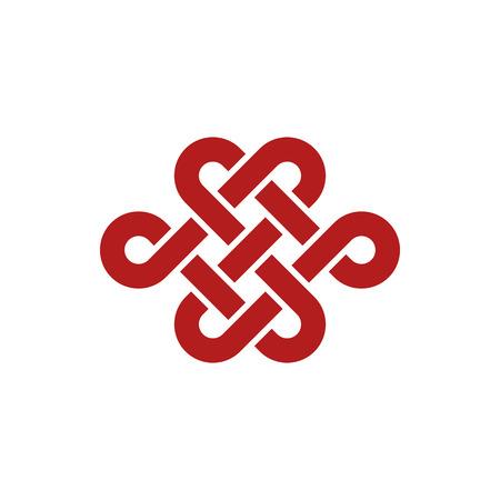 Modèle unique de conception de logo d'icône d'infini de noeud pour la décoration d'entreprise de santé d'entreprise avec un look haut de gamme moderne
