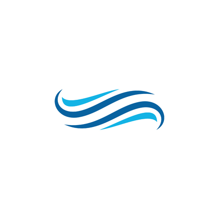 Water Wave Icon Logo Design Template for green technology business plumbing wind company with modern high end look