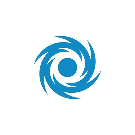 Logo d'icône d'illustration vectorielle de vortex pour une entreprise de santé technologique avec un look moderne et haut de gamme