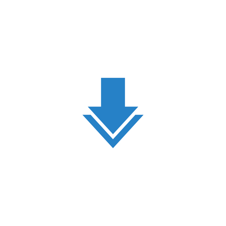Modern Download Button Icon For All storage business technology company with luxury high end look