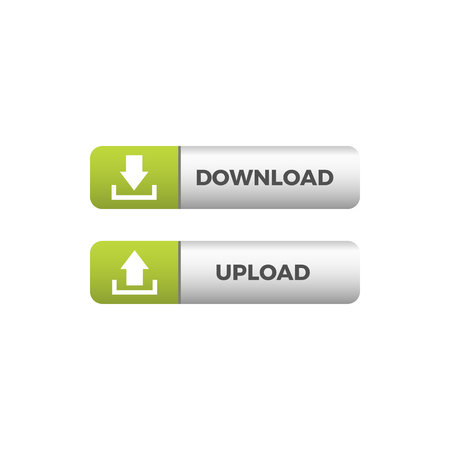 Modern Download Upload Button Icon For All storage business technology company with luxury high end look