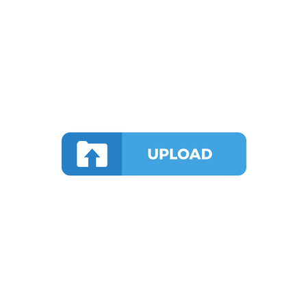 Modern Upload Button Icon For All storage business technology company with luxury high end look
