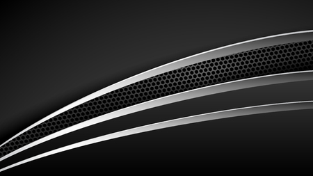 Abstract Layered Black Chrome Trim Automotive Background for all business company with high end look