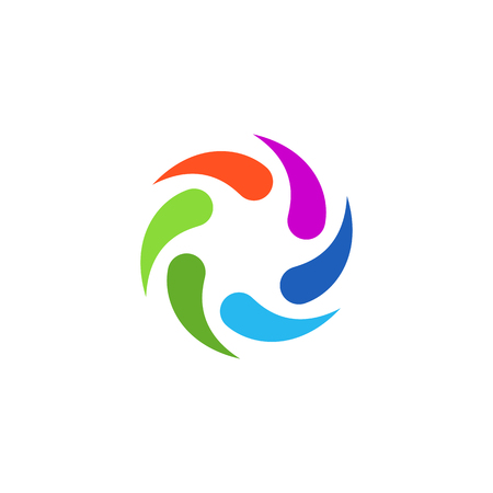 Colorful Abstract Circular Swirl Logo Round Shape for promotion and presentation all business company with high end look Ilustrace