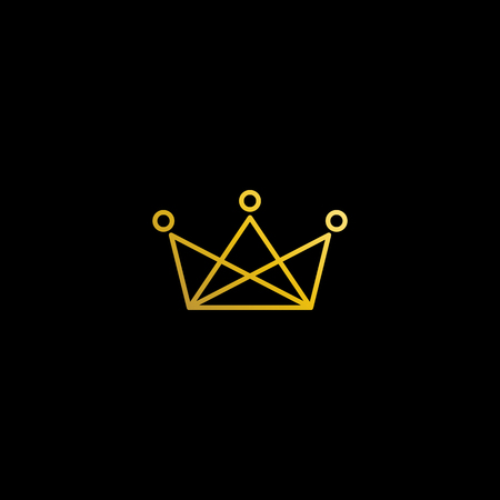 Simple Modern Royal Crown Icon Logo Symbols for Luxury Badges Card Invitations Decoration Element 版權商用圖片 - 123478436