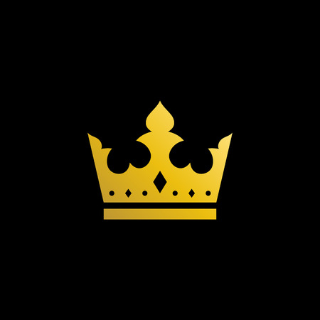 Simple Modern Royal Crown Icon Logo Symbols for Luxury Badges Card Invitations Decoration Element