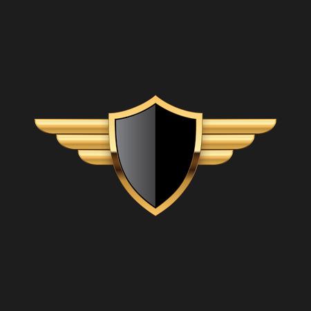 Blank Badge Shield Crest Label Armor Luxury Gold Design Element Template for logo background Card Invitations Decoration Element