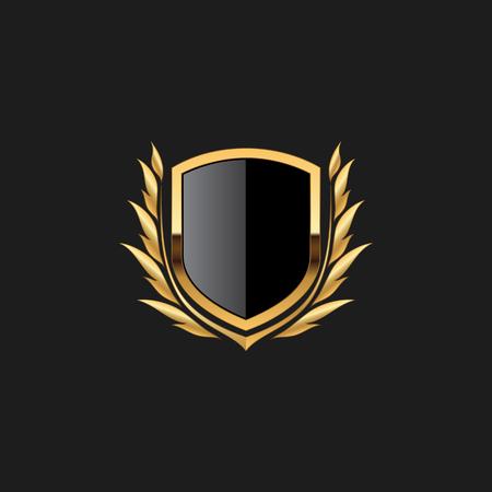 Blank Badge Shield Crest Label Armor Luxury Gold Design Element Template for logo background Card Invitations Decoration Element Logó
