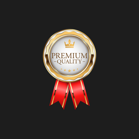 Circle Premium Quality Badge Label Luxury Gold Design Element Template for packaging