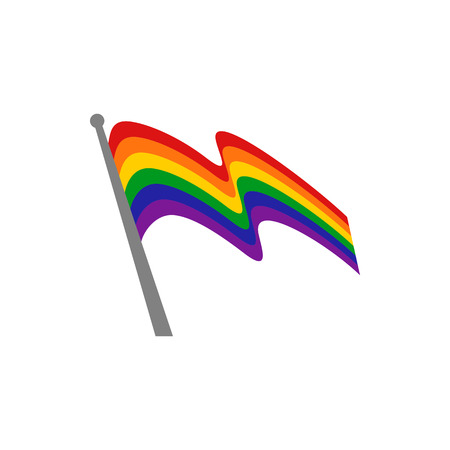 Rainbow Heart Flag Colored LGBT Pride for Lesbian Gay Bisexual and Transgender Design Element
