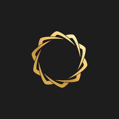Abstract Ornament Luxury Gold Circle Frame Design Element for Logo background Card Invitations Decoration
