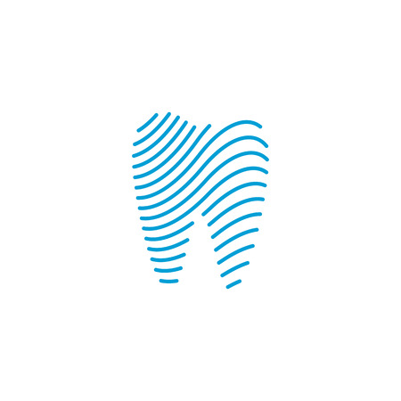 Modern Unique Tooth Dental Health Icon Logo with Blue Color for Pediatric Dentistry Family Dentist and High End Look  イラスト・ベクター素材