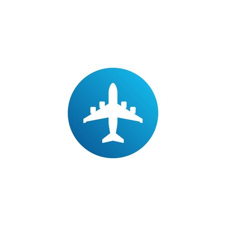 Modern Airplane Traveling Cargo Freight Icon Logo for all business company with high end look