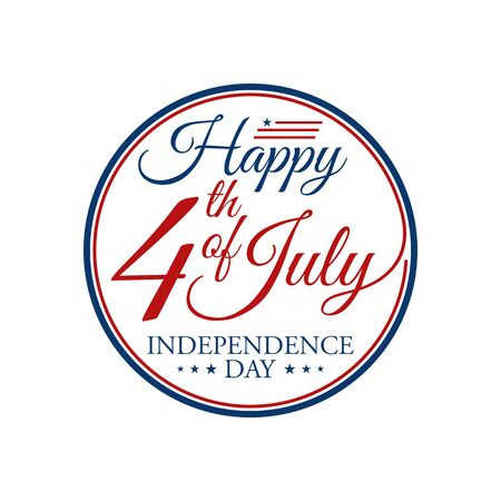Modern Fourth Of July United States Independence Day Celebration Flag Background Header Banner Blue and Red Color For Personal and all Business Company with High end Look