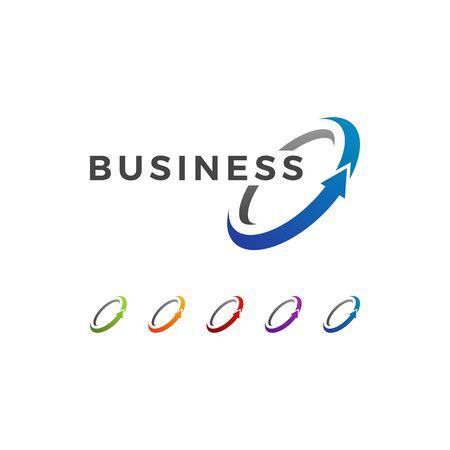 Modern Finance Business Logo Archivio Fotografico - 126518634