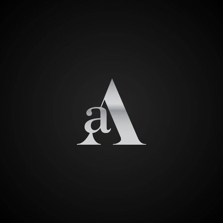 AA initial letter elegant Logo template vector creative business black and silver color based