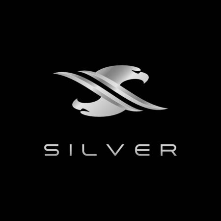 Modern S Letter Silver Eagle for technology fashion business all company with modern high end look Stok Fotoğraf - 132165215