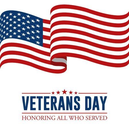Modern Veterans Day Celebration Background Header Banner Blue and Red Color For Personal and all Business Company with High end Look Stok Fotoğraf - 132165447