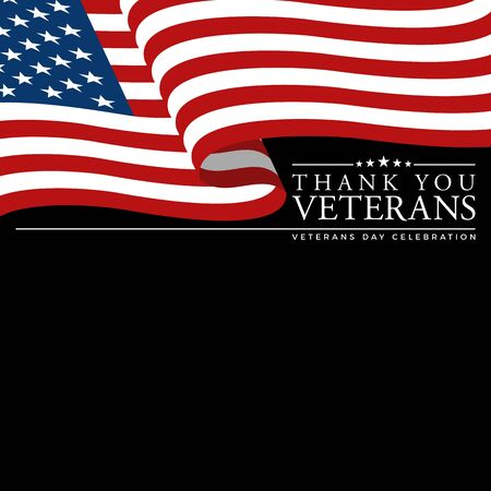 Modern Veterans Day Celebration Background Header Banner Blue and Red Color For Personal and all Business Company with High end Look Stok Fotoğraf - 132165465