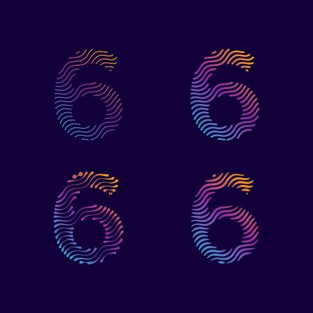 Number Modern Unique Wave Line for fashion decoration background cover wall graphic element for all company profile and personal with high end look