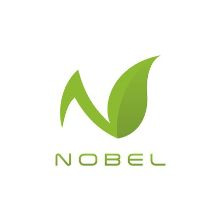Modern N Letter green logo for technology health fashion pattern business all company with modern high end look Çizim
