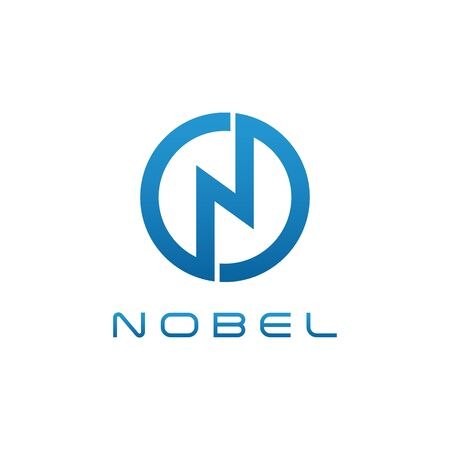 Modern N Letter Blue logo for technology health fashion pattern business all company with modern high end look Çizim