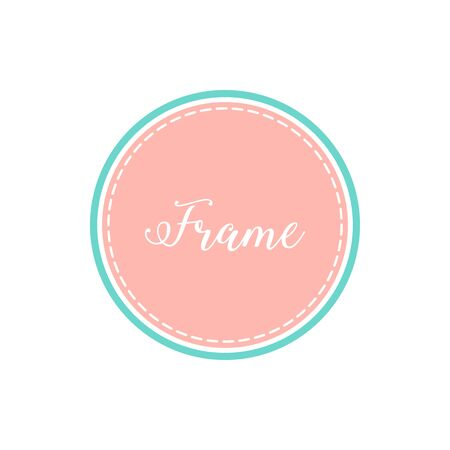 Modern Circle Frame Border with Pastel Color for bakery candy shop invitation for kids design element