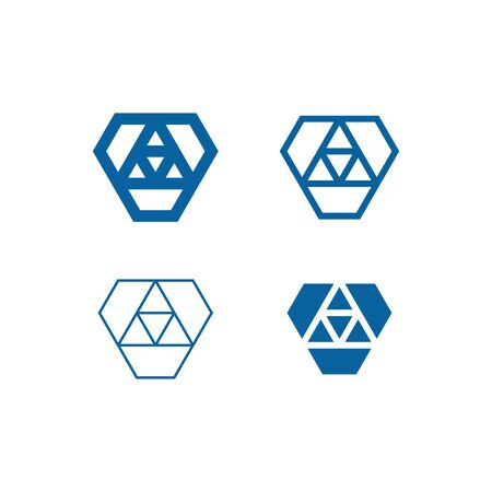 Geometry Geometric Shape Connection Icon Set for Finance Technology Fashion Health Healthcare Product all Business Company