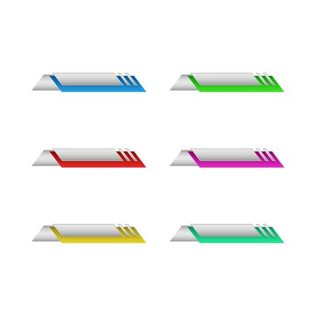 Modern Colorful Empty Title Banner Template for e-commerce, presentations, promotions, technology, business, health with modern high end look 向量圖像