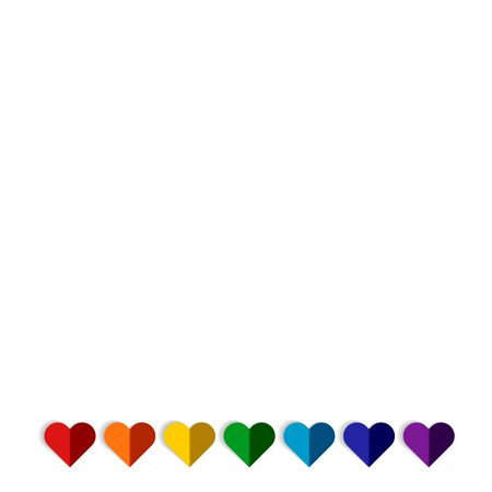 LGBTQ Plus Rainbow Flag Lesbian Gay Bisexual and Transgender Pride Vector Template Design Element with modern high end look