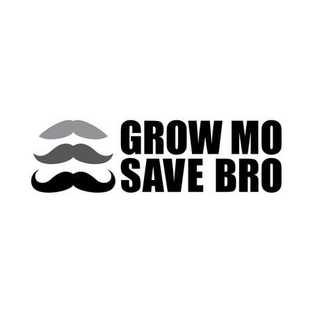Men's Health Month awareness with Grow mustache Save Bro Text Concept on global scale focusing mental health and suicide prevention, prostate cancer and testicular cancer