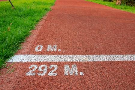 end line: Inicio y fin de l�nea en una pista de carrera rojo ciclo