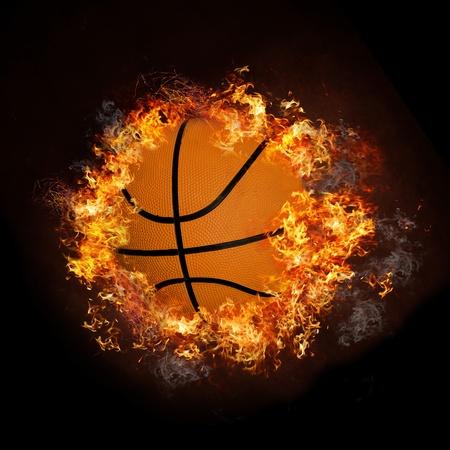 basket: Basket in fiamme