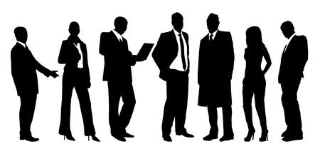 Groeps bedrijfsman en vrouw