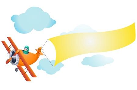 Vliegtuig Illustratie Stock Illustratie