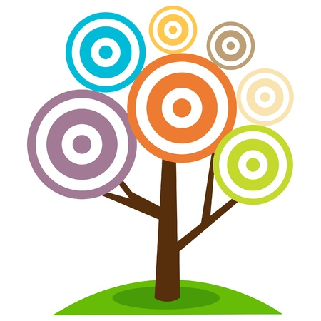 Abstract Tree Illustration Vettoriali